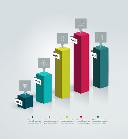 3D graph for infographic   Vector
