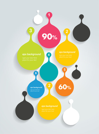bubble speach: Speech bubble infographic template