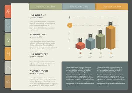 folder: Infographics folder collection. Web page or print template. Vector background illustration.