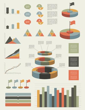 Infographic flat elements. Vector