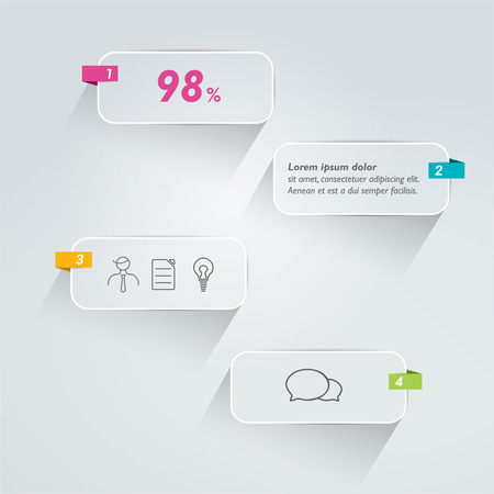 bubles: Speech bubbles text infographic. Vector. Illustration