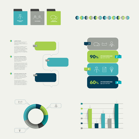 arow: Flat infographic collection.  Illustration