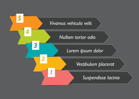 hierarchy chart: Step by step template. Vector. Illustration