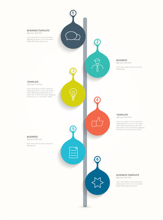 Timeline infographic. Numbered banner template. Vector.  Vector