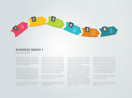 time line: Timeline template. Text page. Vector background.