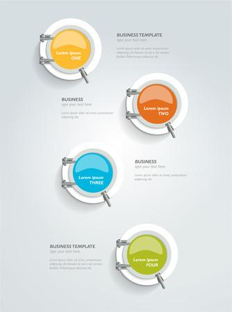 Porthole design timeline template. Vector concept. Illustration