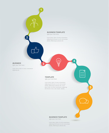 simply: Timeline simply round template. Vector minimalistic banner. Illustration