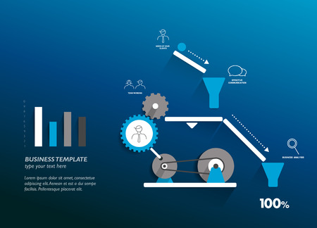 industrial icon: Moving working mechanism. Infographics robotic diagram.