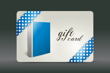 plastic card: Gift card. Book design.