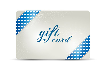 decorative card symbols: Gift card. Vector design.