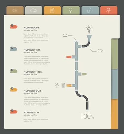Sample print or web page. Infographics template.