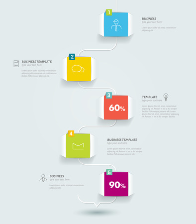 Timeline infographic speach template.  Vector