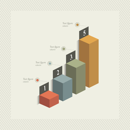 3D graph for infographic. Vector