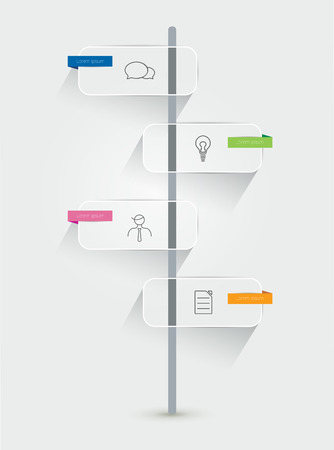 Timeline infographic. Minimalistic flat template.  Vector