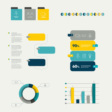arow: Flat infographic collection.