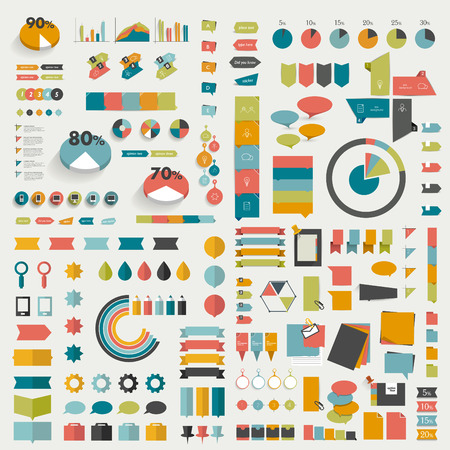 page layout: Big collections of info graphics flat design diagrams