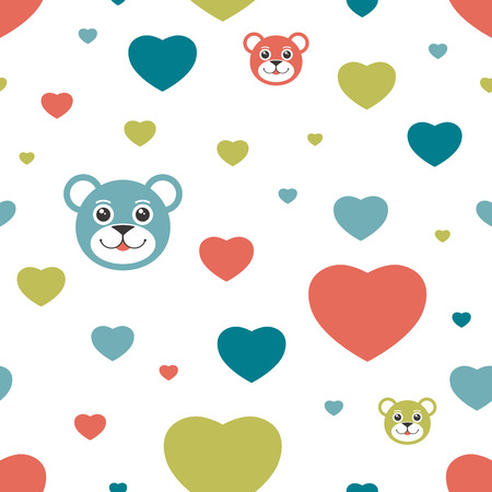 Kids seamless pattern. Simply flat background. Vector. Vector