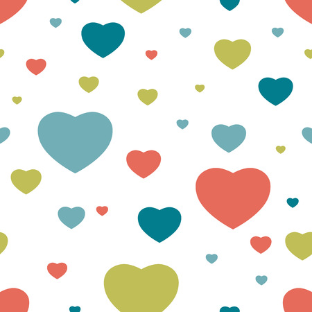 happy birtday: Heart seamless pattern. Simply flat background. Vector. Illustration