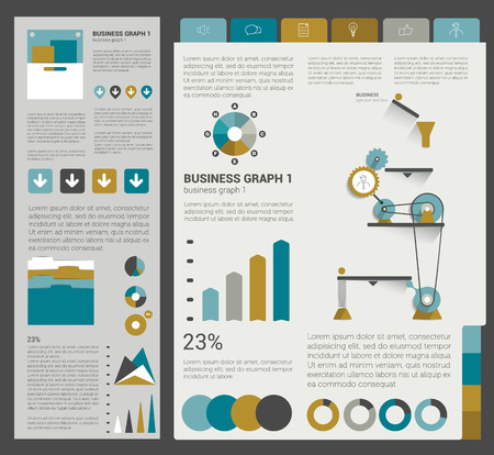 Big set of flat infographic elements. Layout template