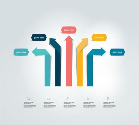 organisation: Arrow infographics scheme. Vector.
