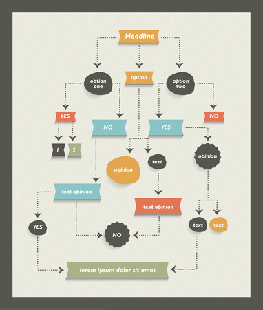 flow diagram: Flow chart diagram, scheme. Infographic algorithm