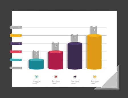 3 d: Graph, chart. Infographic elements.