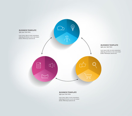 cohere: Round template. Infographics diagram.