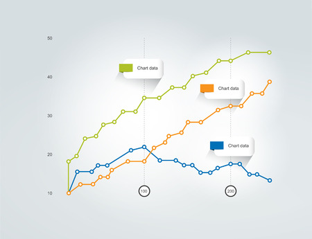 d data: Graph, chart. Infographic elements.