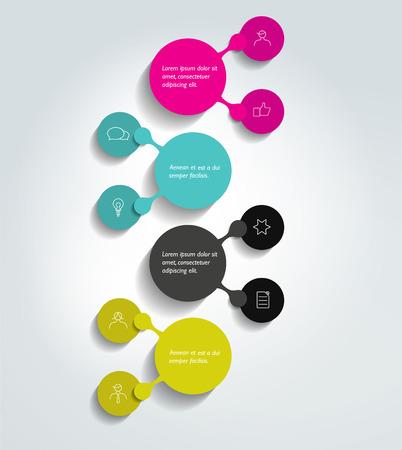 diagrama de flujo: Diagrama de flujo, esquema. Elemento Infografía. Vectores