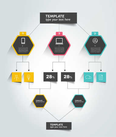 hierarchy: Flowchart tab. Infographic element.