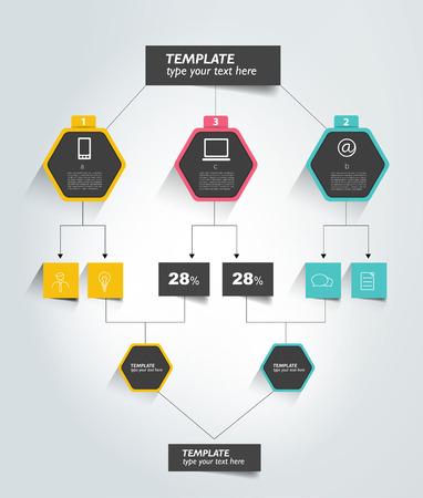 Flowchart tabblad. Infographic element. Stock Illustratie