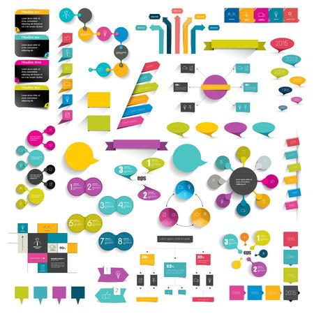 portfolio: Collections of info graphics flat design diagrams.