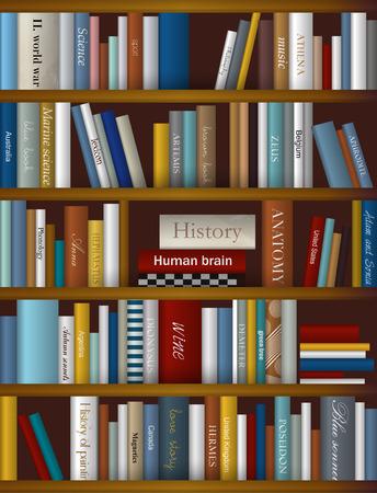 wine book: Book shelf. Plastic illustration. Vector. Illustration