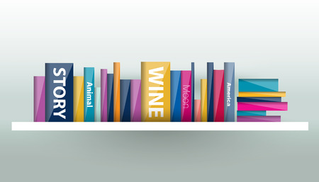 book shelf: Book shelf. Plastic illustration. Vector. Illustration