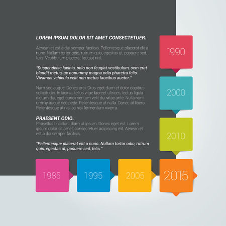 yearrn: Page template. Timeline speech bubble with text field.