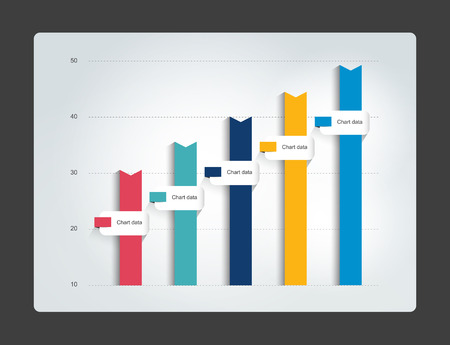 Column chart. Infographics chart. Vector. Stock Illustratie
