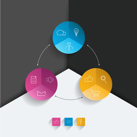 cohere: Round flowchart. Infographics diagram.