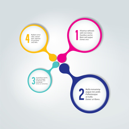 Numbered template, scheme. Infographic element. Illustration
