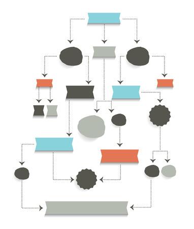 flujo: Diagrama de flujo, esquema. Elemento Infograf�a. Vectores