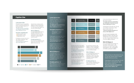 Brochure, flyer, newsletter, annual report layout template. Business background concept. Vetores