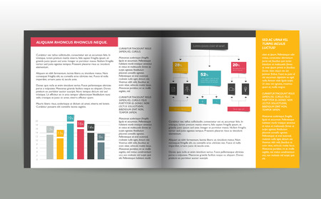 newsletter: Brochure, flyer, newsletter, annual report layout template. Business background concept.