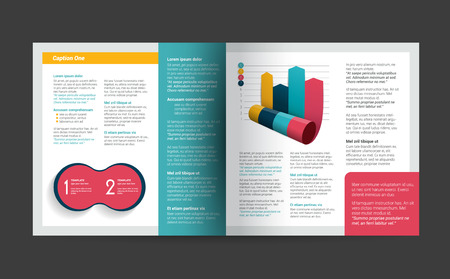 annual report: Brochure, flyer, newsletter, annual report layout template. Business background concept.