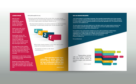 style template: Brochure, flyer, newsletter, annual report layout template. Business background concept.
