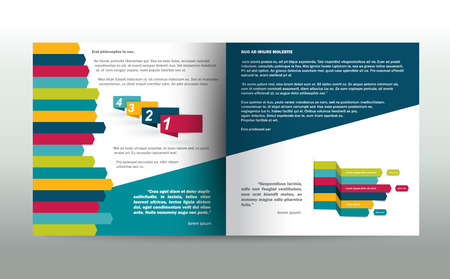 page layout: Booklet page. Magazine layout for infographics. Web template.