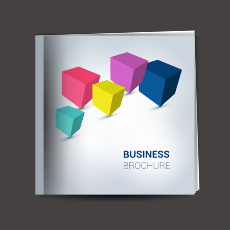 prospectus: Brochure, flyer, newsletter, annual report layout template. Business background concept.