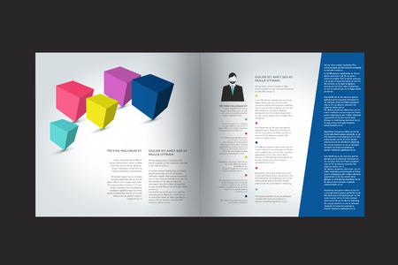 Super Brochure Conception. Annuel Page De Texte Exemple De Rapport. Clip  DN99