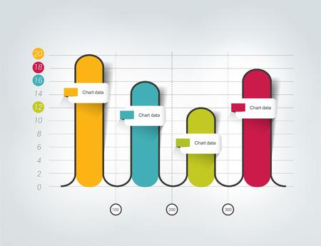 statics: Chart, graph for infographics.