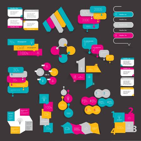 button: Design element set of info graphics.