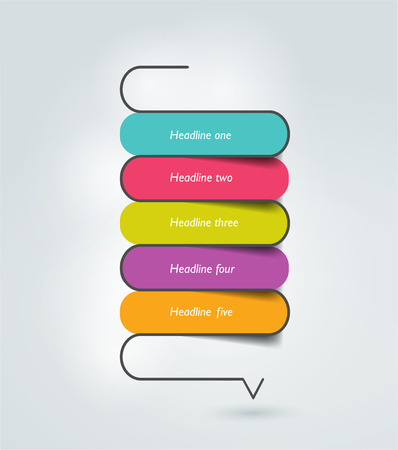 end of the line: Snake speech bubble template. Infographics elements. Illustration