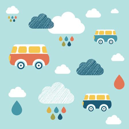 wall paper: Kids wall paper pattern. Illustration